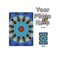 Pattern Blue Brown Background Playing Cards 54 (Mini)