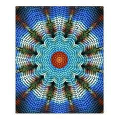 Pattern Blue Brown Background Shower Curtain 60  X 72  (medium)