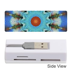 Pattern Blue Brown Background Memory Card Reader (stick)