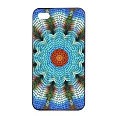 Pattern Blue Brown Background Apple Iphone 4/4s Seamless Case (black)