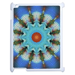 Pattern Blue Brown Background Apple Ipad 2 Case (white)