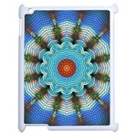 Pattern Blue Brown Background Apple iPad 2 Case (White) Front
