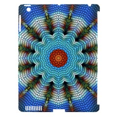 Pattern Blue Brown Background Apple Ipad 3/4 Hardshell Case (compatible With Smart Cover)