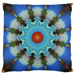 Pattern Blue Brown Background Large Cushion Case (two Sides)