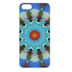 Pattern Blue Brown Background Apple Iphone 5 Seamless Case (white)