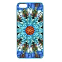 Pattern Blue Brown Background Apple Seamless Iphone 5 Case (color)