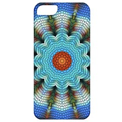 Pattern Blue Brown Background Apple Iphone 5 Classic Hardshell Case