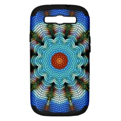 Pattern Blue Brown Background Samsung Galaxy S Iii Hardshell Case (pc+silicone)
