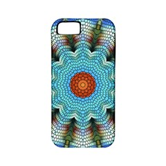 Pattern Blue Brown Background Apple Iphone 5 Classic Hardshell Case (pc+silicone)