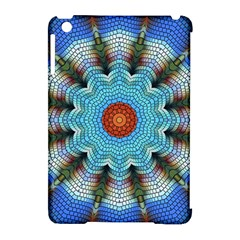 Pattern Blue Brown Background Apple Ipad Mini Hardshell Case (compatible With Smart Cover)