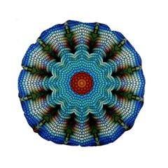 Pattern Blue Brown Background Standard 15  Premium Round Cushions