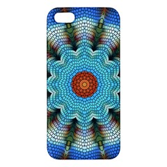 Pattern Blue Brown Background Apple Iphone 5 Premium Hardshell Case