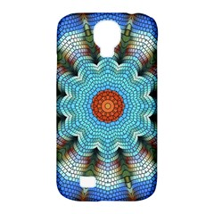 Pattern Blue Brown Background Samsung Galaxy S4 Classic Hardshell Case (pc+silicone)