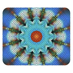 Pattern Blue Brown Background Double Sided Flano Blanket (small)