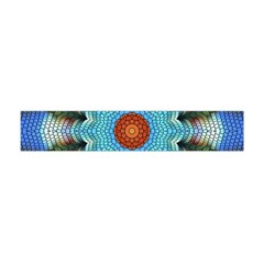 Pattern Blue Brown Background Flano Scarf (mini)