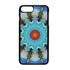 Pattern Blue Brown Background Apple Iphone 7 Plus Seamless Case (black)