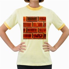 Portugal Ceramic Tiles Wall Women s Fitted Ringer T-Shirts