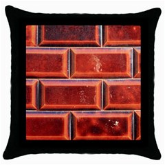 Portugal Ceramic Tiles Wall Throw Pillow Case (Black)