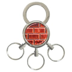 Portugal Ceramic Tiles Wall 3 Ring Key Chains