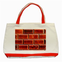 Portugal Ceramic Tiles Wall Classic Tote Bag (red)