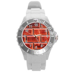 Portugal Ceramic Tiles Wall Round Plastic Sport Watch (l)