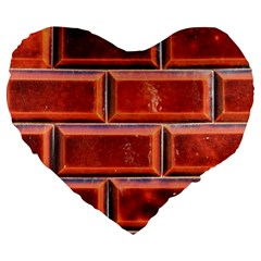 Portugal Ceramic Tiles Wall Large 19  Premium Heart Shape Cushions