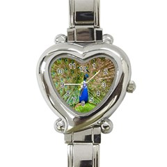 Peacock Animal Photography Beautiful Heart Italian Charm Watch