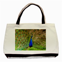 Peacock Animal Photography Beautiful Basic Tote Bag (Two Sides)