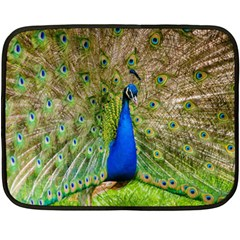 Peacock Animal Photography Beautiful Double Sided Fleece Blanket (mini)