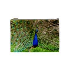 Peacock Animal Photography Beautiful Cosmetic Bag (Medium)