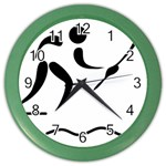 Assault Course Pictogram Color Wall Clocks Front