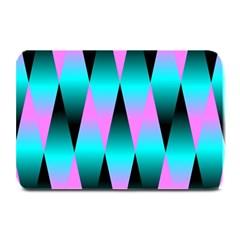 Shiny Decorative Geometric Aqua Plate Mats