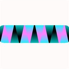 Shiny Decorative Geometric Aqua Large Bar Mats
