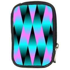 Shiny Decorative Geometric Aqua Compact Camera Cases