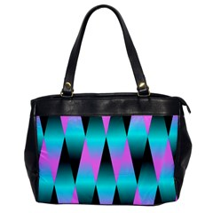 Shiny Decorative Geometric Aqua Office Handbags