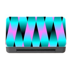Shiny Decorative Geometric Aqua Memory Card Reader With Cf