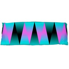 Shiny Decorative Geometric Aqua Body Pillow Case (dakimakura)