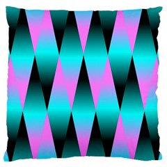 Shiny Decorative Geometric Aqua Large Cushion Case (one Side)