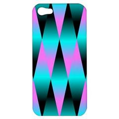 Shiny Decorative Geometric Aqua Apple Iphone 5 Hardshell Case