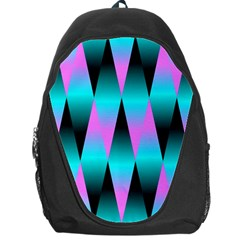 Shiny Decorative Geometric Aqua Backpack Bag