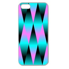 Shiny Decorative Geometric Aqua Apple Seamless Iphone 5 Case (clear)