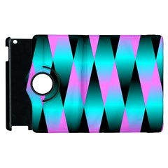 Shiny Decorative Geometric Aqua Apple Ipad 3/4 Flip 360 Case