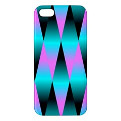 Shiny Decorative Geometric Aqua Apple Iphone 5 Premium Hardshell Case