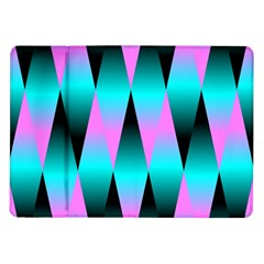 Shiny Decorative Geometric Aqua Samsung Galaxy Tab 10 1  P7500 Flip Case