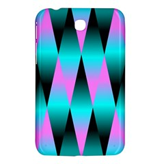 Shiny Decorative Geometric Aqua Samsung Galaxy Tab 3 (7 ) P3200 Hardshell Case