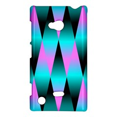 Shiny Decorative Geometric Aqua Nokia Lumia 720
