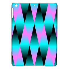 Shiny Decorative Geometric Aqua Ipad Air Hardshell Cases