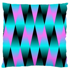 Shiny Decorative Geometric Aqua Large Flano Cushion Case (one Side)