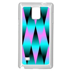 Shiny Decorative Geometric Aqua Samsung Galaxy Note 4 Case (white)