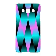 Shiny Decorative Geometric Aqua Samsung Galaxy A5 Hardshell Case